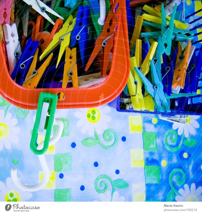 staple sorting plant Holder Wet Storm Clamp Laundry Clothesline Hang Hang up Dry Multicoloured Crazy Basket Containers and vessels Arrange Household Safety