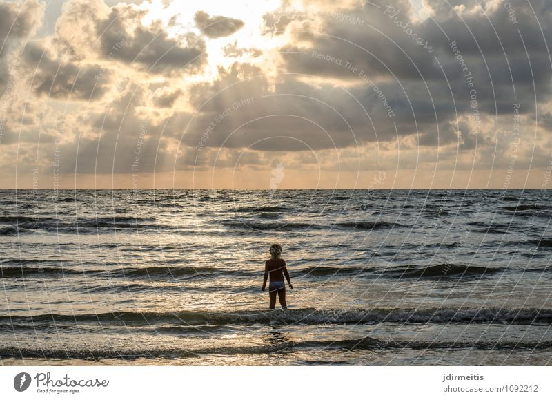 On the beach Vacation & Travel Far-off places Freedom Summer Beach Ocean Waves Child Human being Feminine Toddler Girl 1 3 - 8 years Infancy Environment Nature