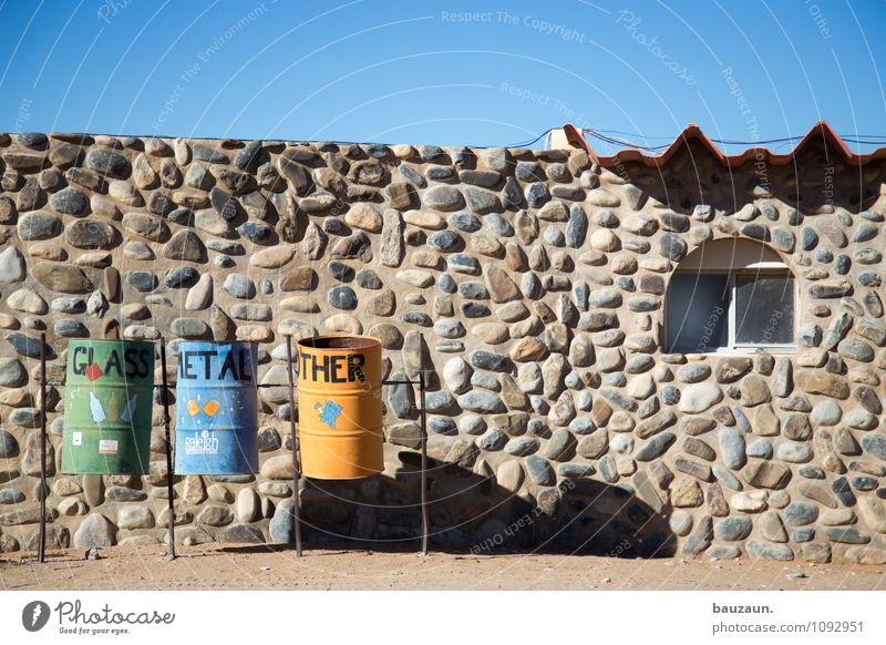 waste separation. Living or residing House (Residential Structure) Profession Sky Cloudless sky Beautiful weather Namibia Africa Village Hut Manmade structures