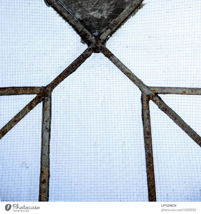 STUDIO TOUR | >X< House (Residential Structure) Factory Window Roof Glass Retro Blue Design Symmetry Checkered Skylight Line Colour photo Interior shot Deserted