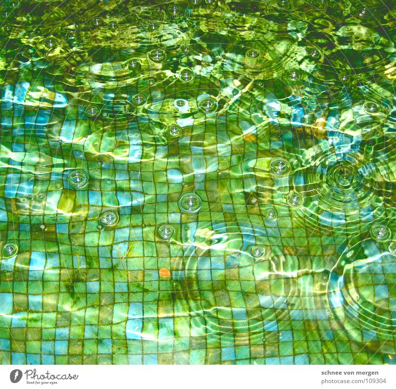 Blue Water Green Bright Waves Background picture Glittering Well Tile Surface of water Mosaic Pattern Glimmer Play of colours Splashing Blue-green