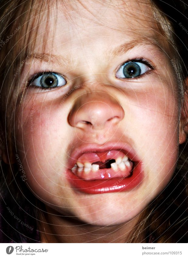 Child Face Eyes Dangerous Teeth Anger Respect Aggravation Bite Snarl Tooth space Growling stomach