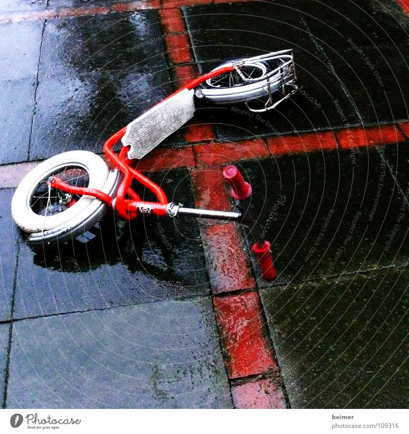 scooter Wet Guard Red Transport Leisure and hobbies Rain Wheel Back Stone luggage carrier Like tumbled Scooter