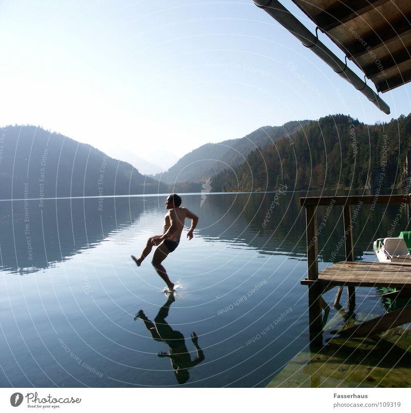 Water Summer Joy Jump Lake Wet To fall Footbridge