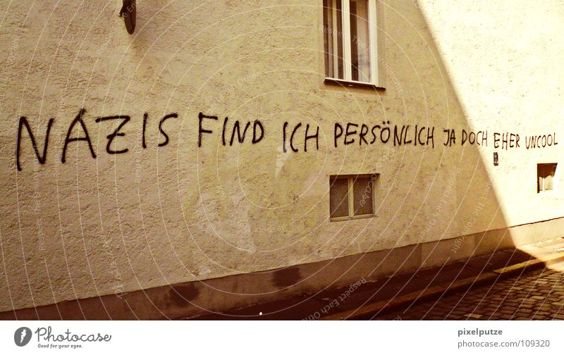 Wall (building) Graffiti Germany Characters Letters (alphabet) Philosophy Typography Left Politics and state Culture Right Moral Meaning Vandalism