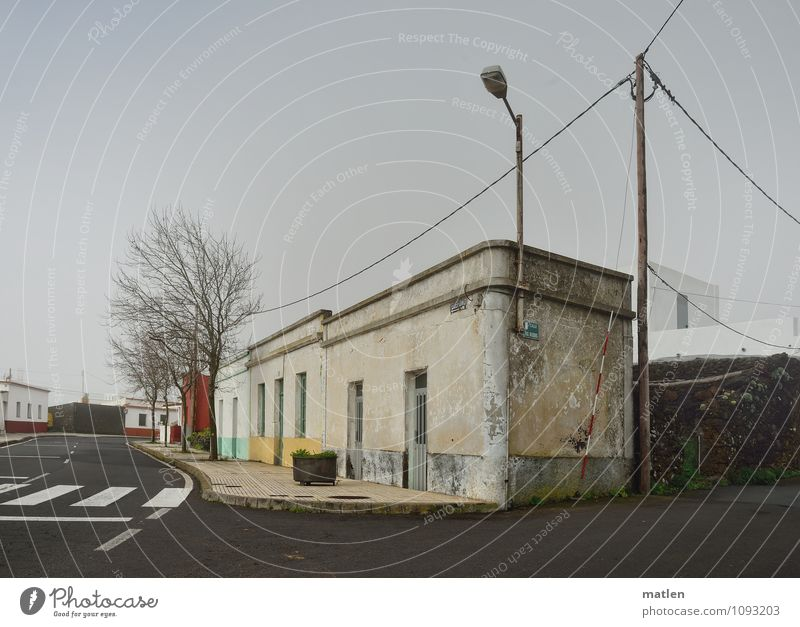 phone Telephone Cable Telecommunications Village Outskirts Deserted House (Residential Structure) Wall (barrier) Wall (building) Facade Window Door