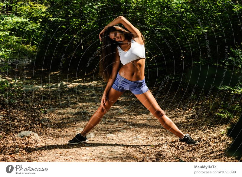 sport Human being Woman Nature Youth (Young adults) Plant Summer Young woman 18 - 30 years Forest Adults Movement Sports Garden Work and employment Park Air