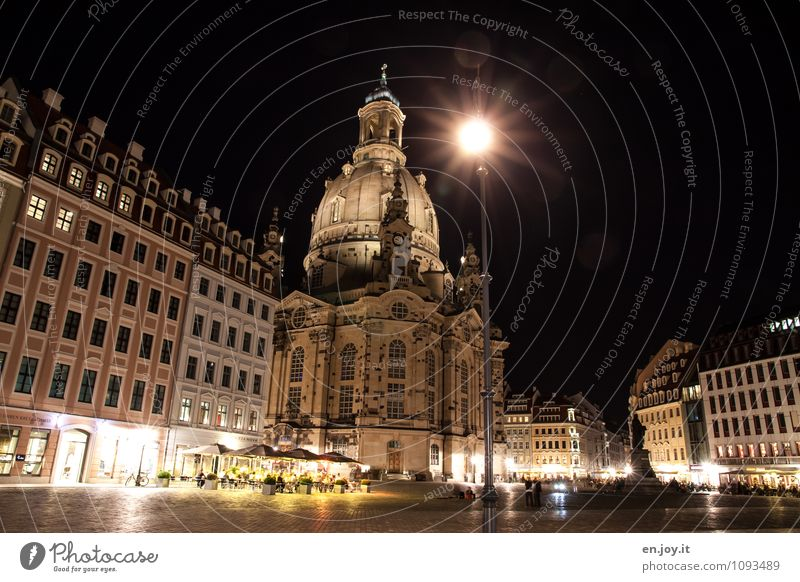 downtown Vacation & Travel Tourism Trip City trip Lighting Street lighting Night sky Dresden Saxony Germany Europe Town Capital city Downtown Populated
