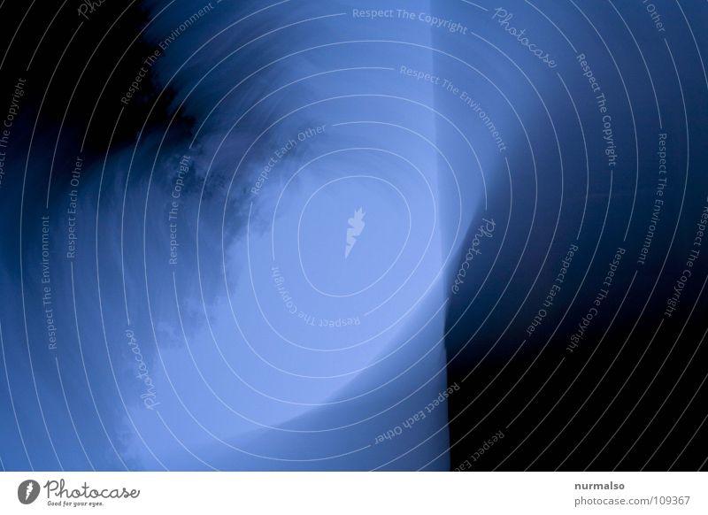Sky Tree Blue Black Above Movement Gray Line Modern Round Rotate Lie (Untruth) Tumble down