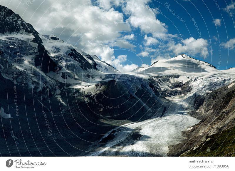 Pasterze Glacier at Grossglockner Environment Nature Landscape Sky Clouds Summer Climate change Warmth Alps Peak Snowcapped peak Canyon Gigantic Large Infinity