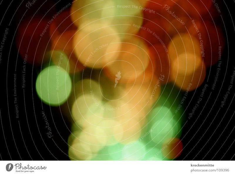 light screws Light Abstract Circle Night Red Green Yellow Way out Night life Blur Colour Lamp Point