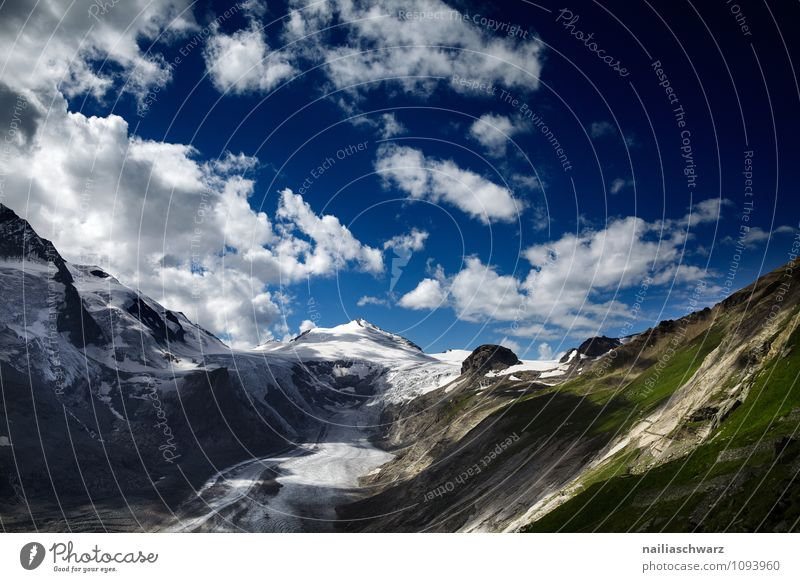 Pasterze Glacier at Grossglockner Environment Nature Landscape Elements Clouds Climate Climate change Beautiful weather Warmth Alps Gigantic Large Infinity