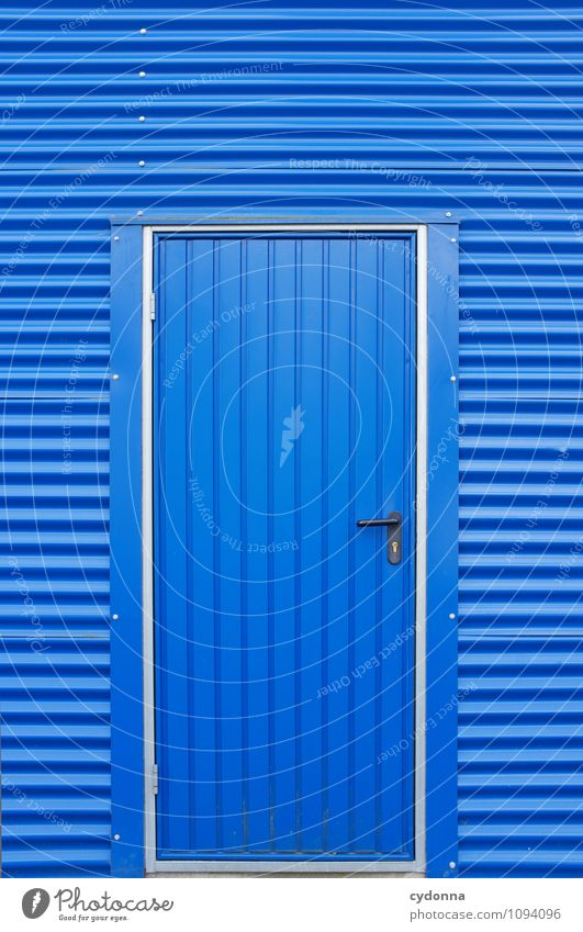 City Blue Colour Architecture Lanes & trails Facade Dream Design Door Beginning Closed Future Protection Curiosity Hope Safety
