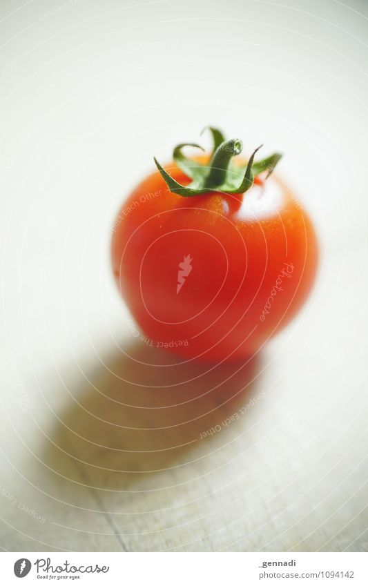 tomato Food Vegetable Tomato Round Juicy Green Red Healthy Vegetarian diet Organic produce Colour photo Interior shot Studio shot Detail Deserted Copy Space top