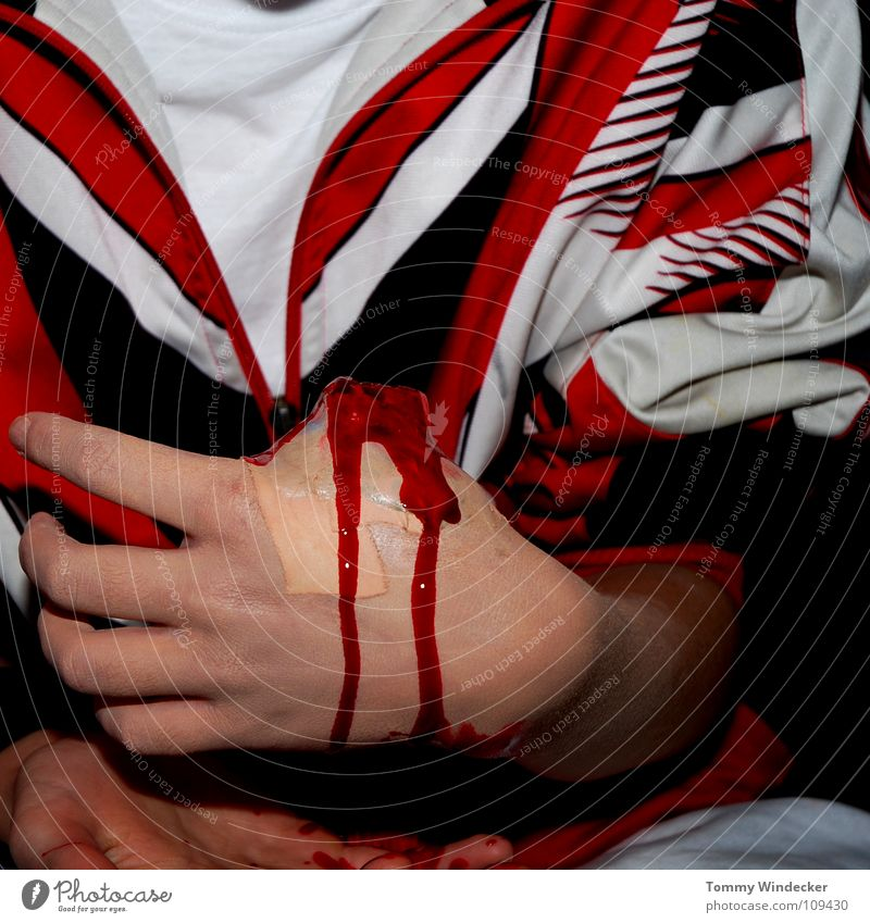 Human being Hand Red Life Fear Transport Dangerous Health care Hope Threat Desire To hold on Pain Concern Blood Accident