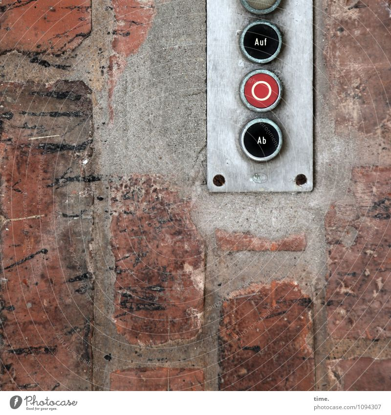 HMV technology that inspires Technology Switch Switch panel Buttons Wall (barrier) Wall (building) Brick Brick wall Plaster Old Historic Sustainability Town