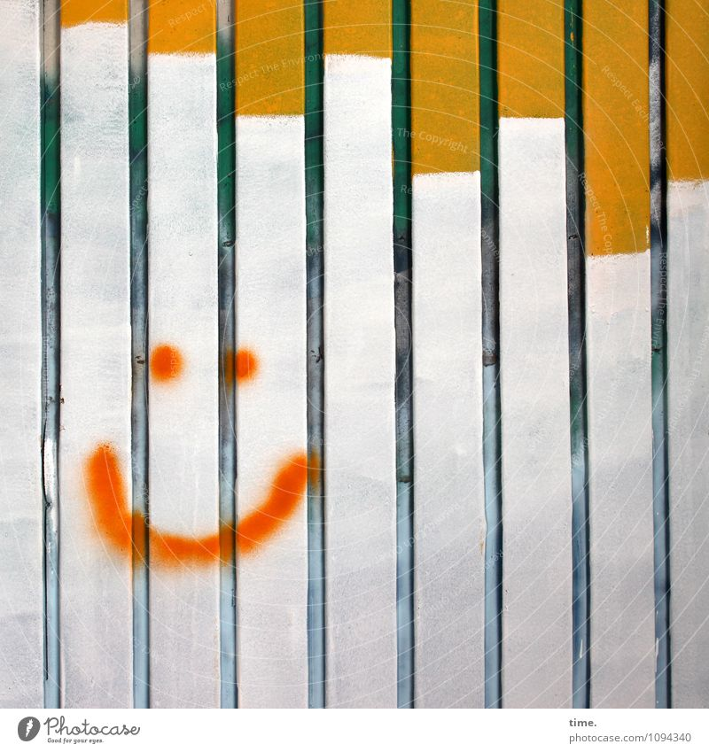 Human being Relaxation Joy Face Life Graffiti Happy Facade Design Happiness Esthetic Smiling Joie de vivre (Vitality) Fence Discover Ease