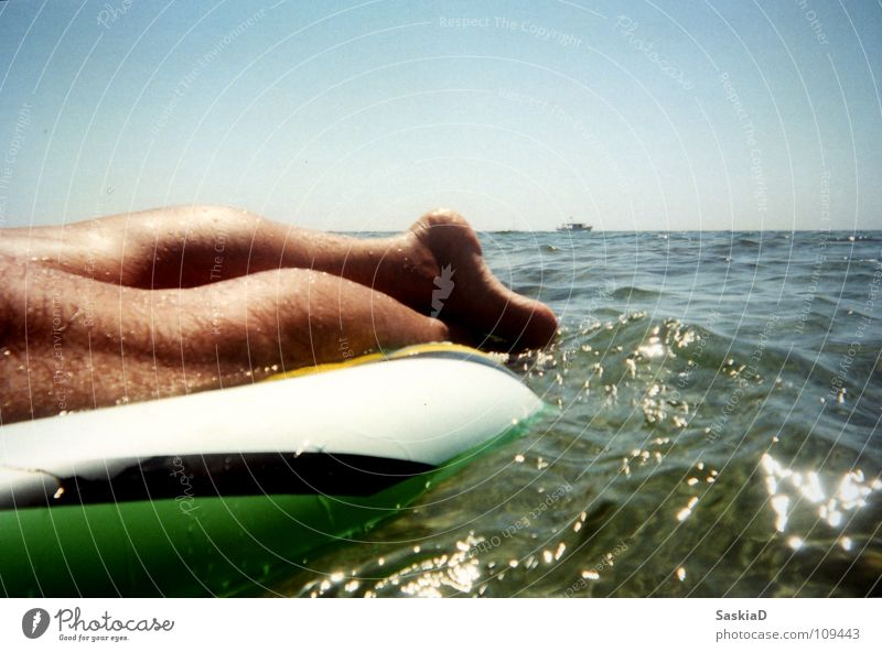 Man Ocean Summer Vacation & Travel Calm Cold Relaxation Warmth Legs Watercraft Contentment Horizon Physics Croatia