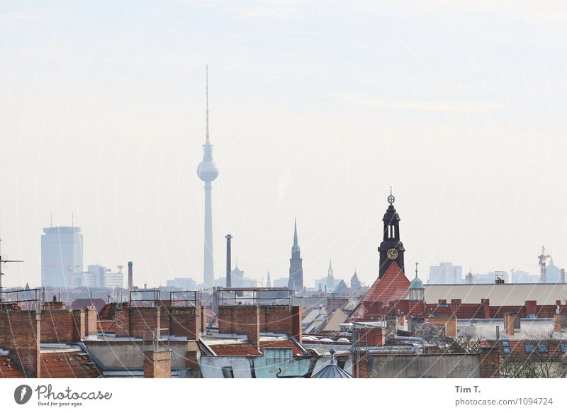 Berlin 2015 Town Capital city Downtown Old town Tourist Attraction Landmark Television tower Colour photo Exterior shot Deserted Day Panorama (View)