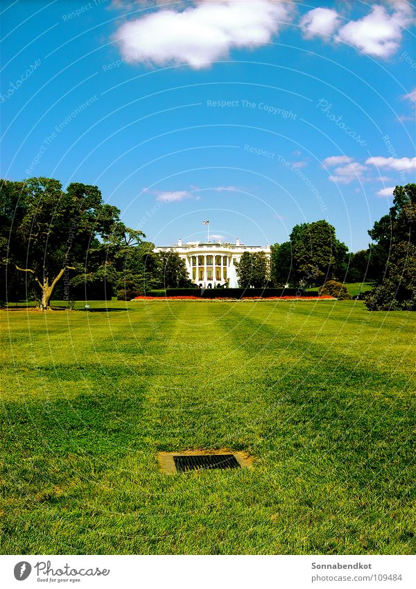 Garden USA Mysterious Americas Politics and state Washington DC The White House