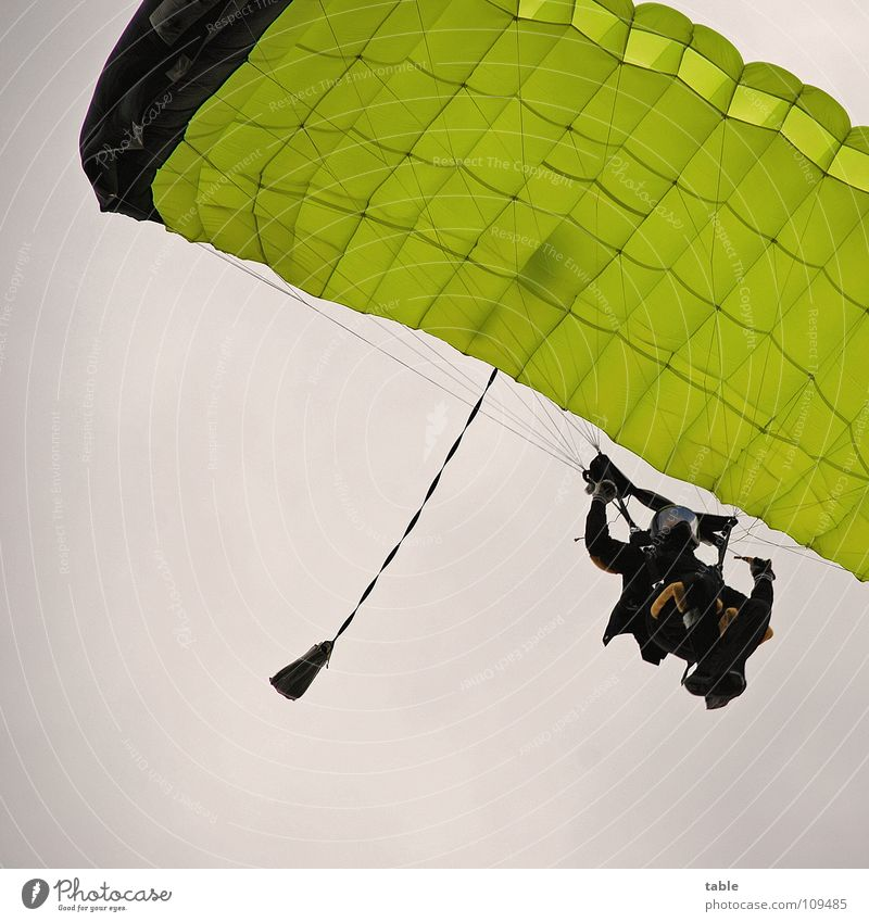 high achiever Skydiving Parachute Helmet Sports Junkie Pilot Airplane Yellow Clouds Adventure Man Airfield Pro Leisure and hobbies Skydiver Action Joy