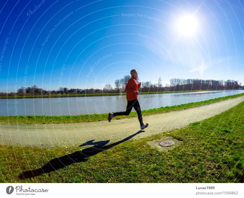 Human being Nature Youth (Young adults) Man Young man 18 - 30 years Adults Autumn Movement Meadow Spring Sports Laughter Masculine Contentment Power
