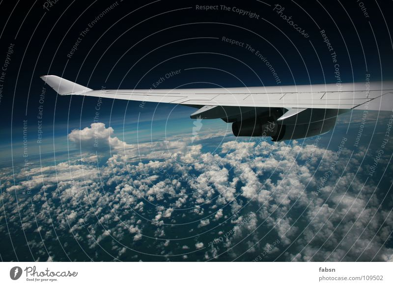 Sky Clouds Far-off places Cold Freedom Bright Fear Airplane Flying Free Tall Speed Aviation Asia Wing Trust