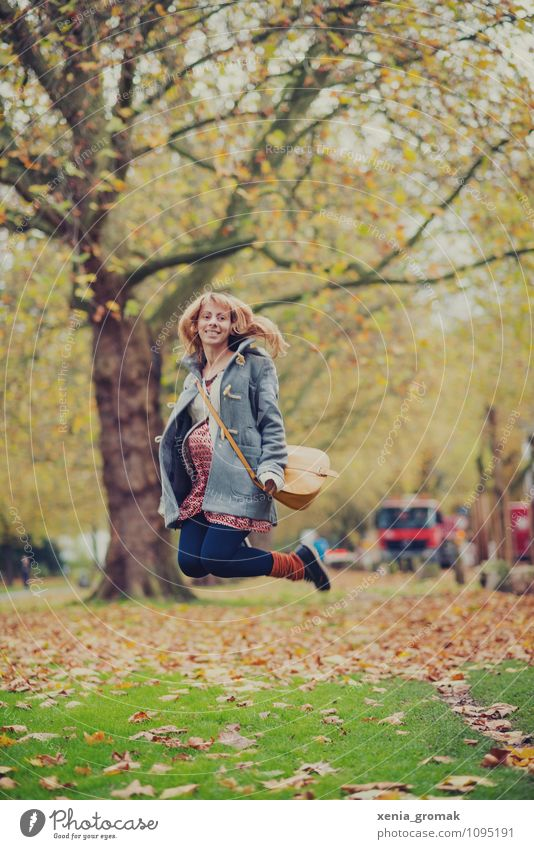 Human being Vacation & Travel Joy Life Feminine Playing Happy Laughter Garden Lifestyle Jump Park Contentment Leisure and hobbies Tourism Happiness