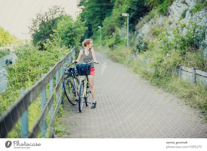 Human being Vacation & Travel Summer Joy Healthy Eating Far-off places Environment Feminine Playing Freedom Lifestyle Leisure and hobbies Tourism Bicycle Energy