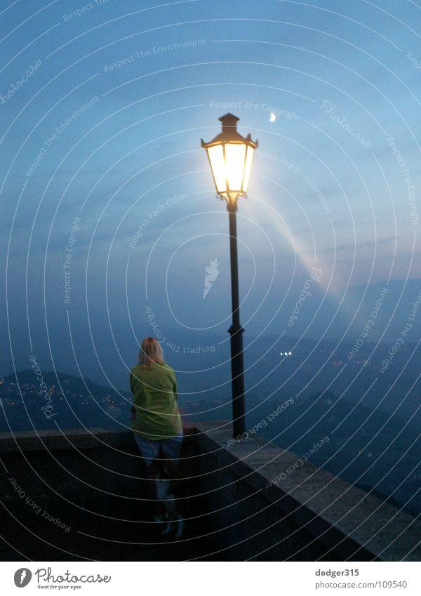 Woman Lamp Dream Grief Longing Lantern Distress