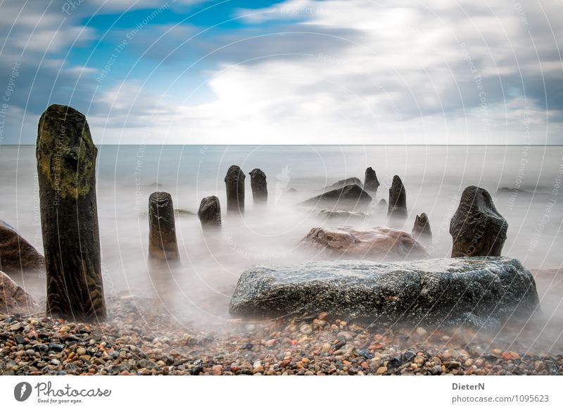 Sky Nature Blue White Water Landscape Clouds Beach Black Coast Stone Rock Horizon Weather Baltic Sea Row