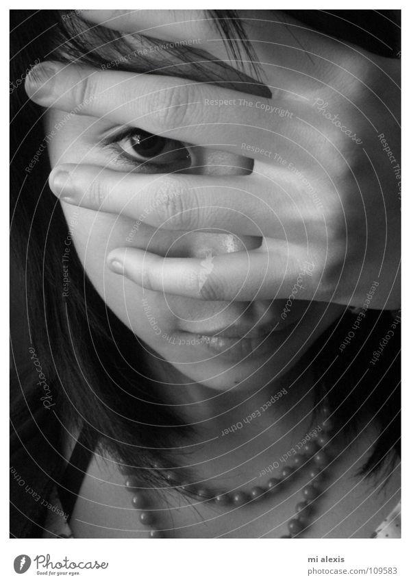 (m)a moment Snapshot Vista Pervasive Black & white photo Eyes portrait captivating