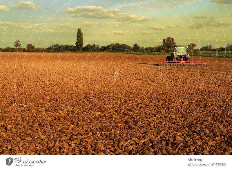 Nature Sky Green Clouds Work and employment Car Sand Landscape Brown Field Earth Motor vehicle Technology Farm Grain Vegetable