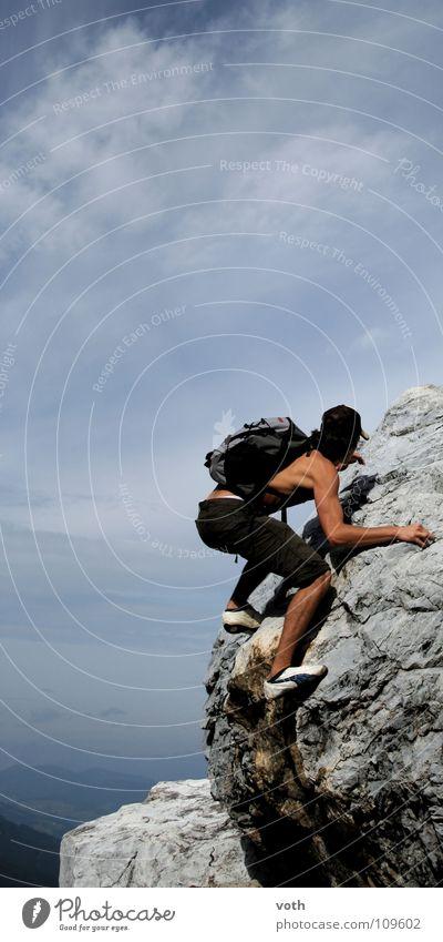 Summer Clouds Sports Playing Mountain Power Dangerous Threat Climbing Austria Puma