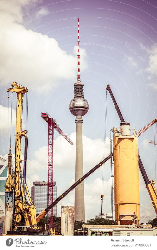 Grandma says: Berlin is a construction site II Design Vacation & Travel Tourism Sightseeing Summer Work and employment Construction site Technology Sky