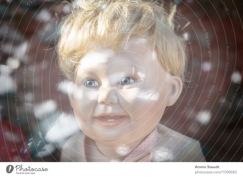 Doll head (creepy) with reflection Lifestyle Style Design Beautiful Playing Androgynous Homosexual Child Baby Toddler Girl Boy (child) Head 3 - 8 years Infancy