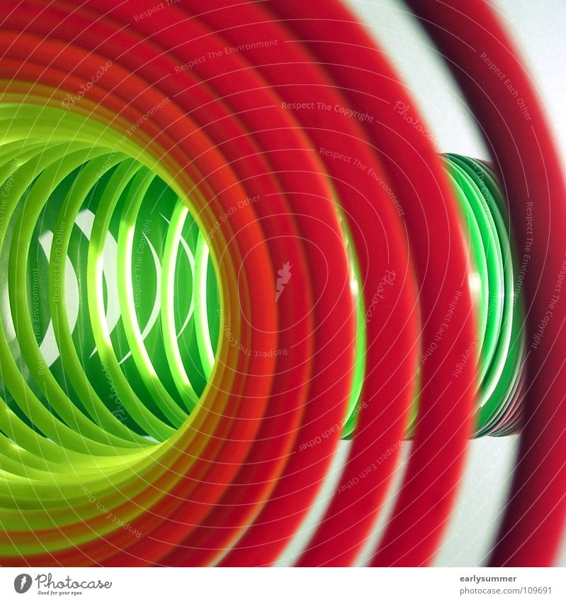 Off through the middle Joy Beautiful weather Tunnel Funny Near Round Yellow Green Violet Red Colour Spiral Coil Prismatic colors Obscure Middle Colour photo