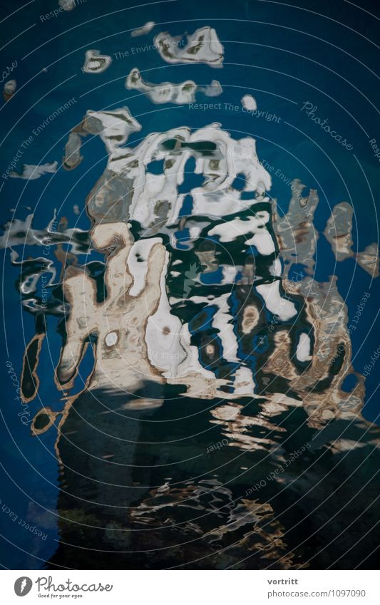 Blue Water Cold Environment Movement Brown Esthetic Elements Painting and drawing (object) Fluid Bizarre