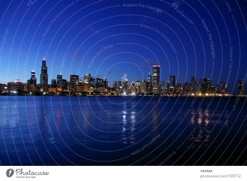 Chicago Skyline Twilight A Royalty Free Stock Photo From Photocase