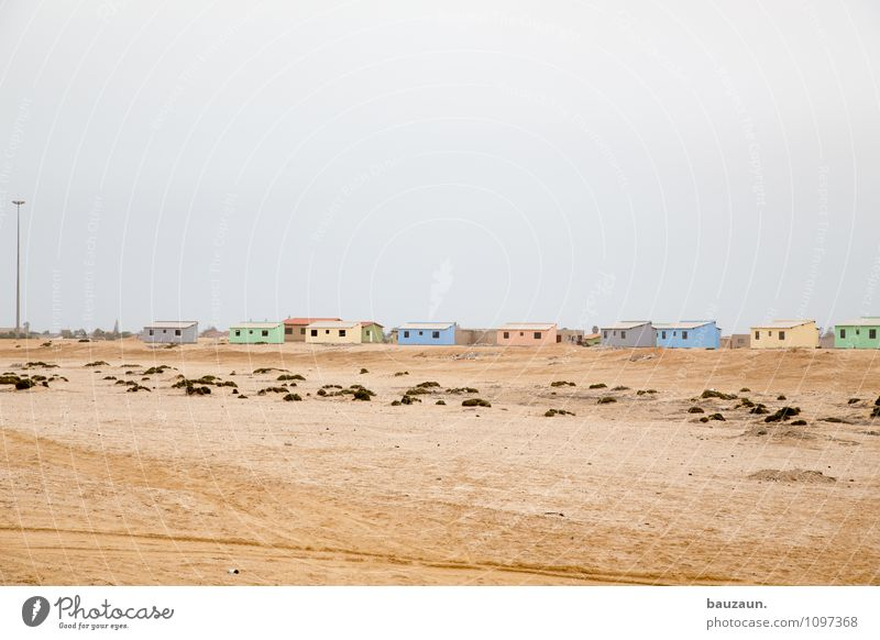 new building project. Vacation & Travel Tourism Craftsperson Construction site Craft (trade) Earth Sand Sky Clouds Climate Weather Desert Namibia Africa
