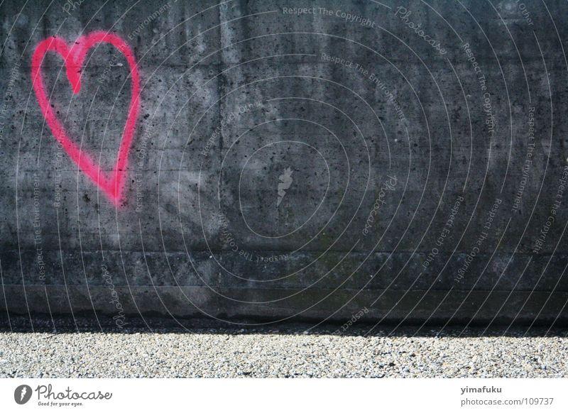 concrete love Love Pink Town heart Graffiti grey