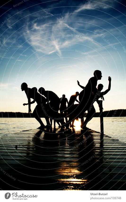Youth (Young adults) Water Sky Sun Red Joy Calm Clouds Freedom Happy Friendship Contentment Coast Action Swimming & Bathing Infinity