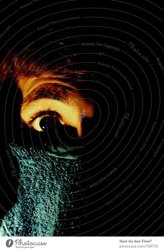 Blue Black Eyes Dark Hair and hairstyles Dream Fear Skin Mask Curiosity Hide Evil Sweater Bans False Panic