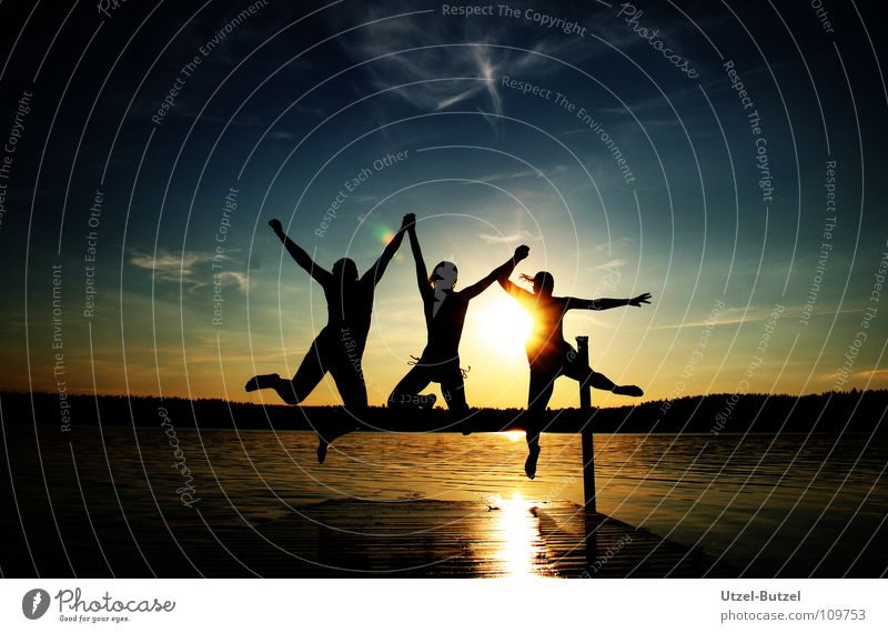 Youth (Young adults) Water Sky Sun Red Summer Joy Calm Clouds Freedom Happy Friendship Coast Action Swimming & Bathing Infinity