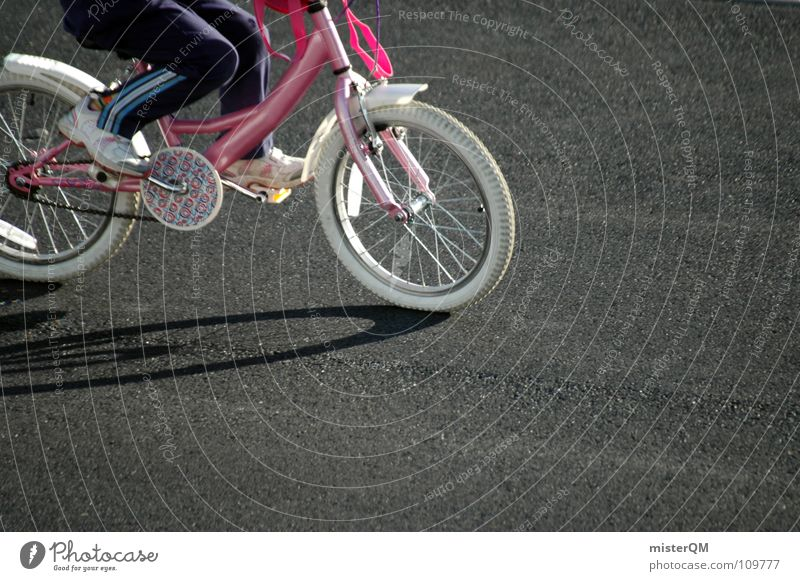 bicycle race Bicycle Child Playing Concrete Joy Street