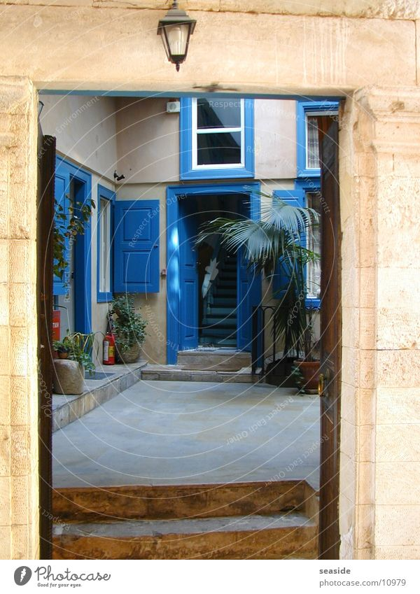 Blue Architecture Door Greece Crete