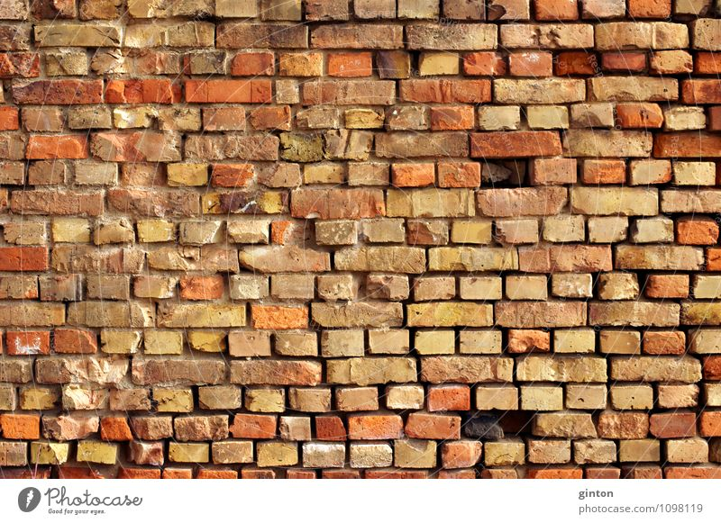 Striking brick wall Manmade structures Building Architecture Wall (barrier) Wall (building) Stone Old Sharp-edged Firm Retro Colour photo Subdued colour