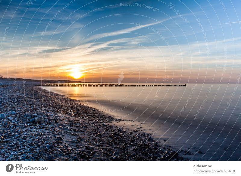 sunset baltic beach Landscape Water Beautiful weather Baltic Sea Emotions Contentment Joie de vivre (Vitality) Enthusiasm Warm-heartedness Romance Attentive