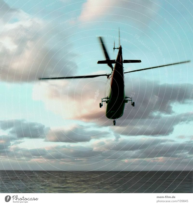 Sky Blue Water Ocean Aviation Help Search Services Rescue First Aid Insurance Helpless Helicopter Medic Coastal patrol Rescue helicopter