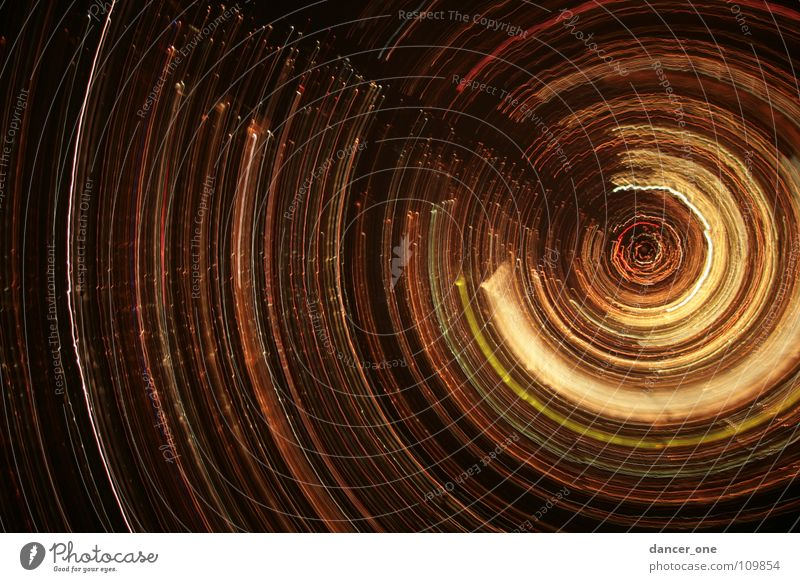 special-city-of-night Spiral Night Light Long exposure Red Yellow Black Exceptional Round Autumn Saint Gallen